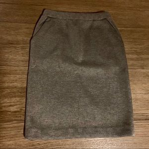 Cynthia Rowley Gray Sweater Skirt WITH POCKETS!